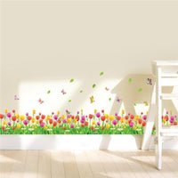 Nature Wall Stickers Wall Tulip Home Flowers Decoration 3D