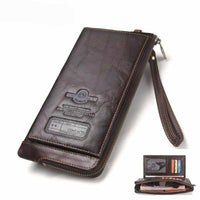 Purse Wallet Organizer Authentic Leather Blocking RFID