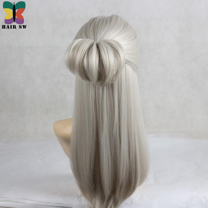 Wigs Targaryen Straight Silver khaleesi Halloween Hair Gray Game of Thrones Daenerys Costume