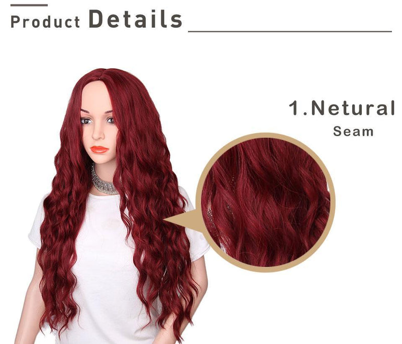 "Natural Long Wavy Hair  30"" Synthetic Wigs"