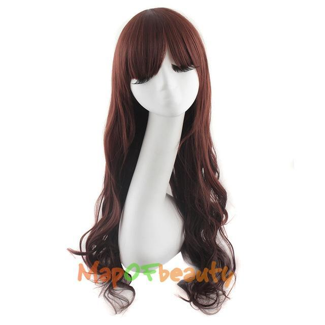Wigs Wavy Synthetic Silver Party Ombre Natural Long Halloween Hair cosplay Beautiful