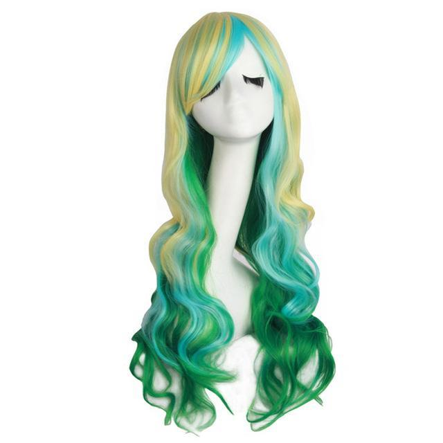 Ombre long Wavy Costume Wigs,12 colors