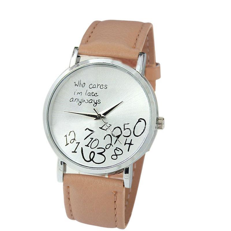 Friends Holiday Gift Cute Cares Who Cares Late Funny Watch