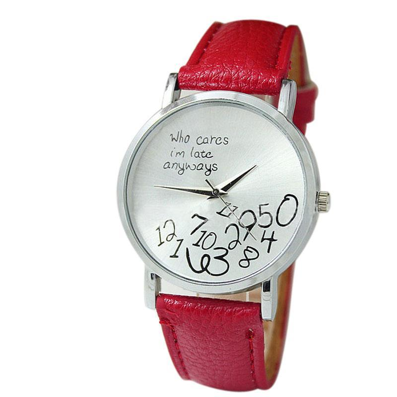 "Funny ""Whatever I am late Anyway"" Wrist Watch"