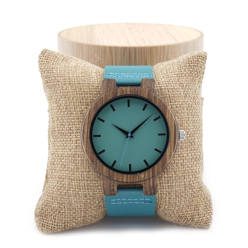 Brand Fashion High Quality Cute Wood Watch Japanese Gift Bamboo