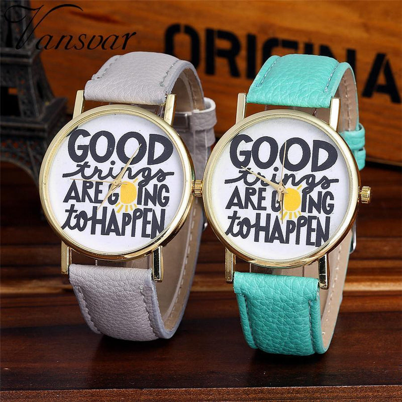 Indie Boho Noho Brand Designer Watch Fashion Style Cute Thinking Vibe Positive Leather
