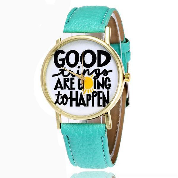 Turquoise Indie Boho Noho Brand Designer Watch Fashion Style Cute Thinking Vibe Positive Leather