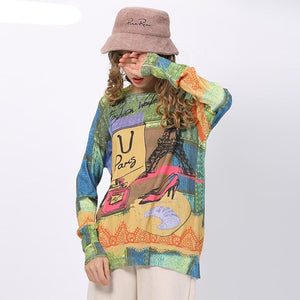 Warm  Sweater Light  Paris  Material_Polyester  Material_Nylon  Lover  Love  Gift  Eiffel  Cool  Bonjour  Autumn
