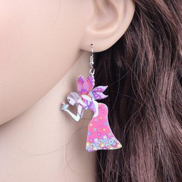Earrings,Angel,Butterfly,Girl,Cute,Wings, Acrylic