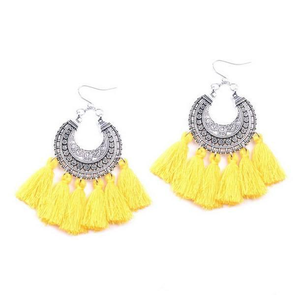 Earrings Drop Cute Vintage Indian Boho Tassel Gift