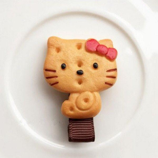 Cookie, Hair, Accessory, Cute, Hello Kitty