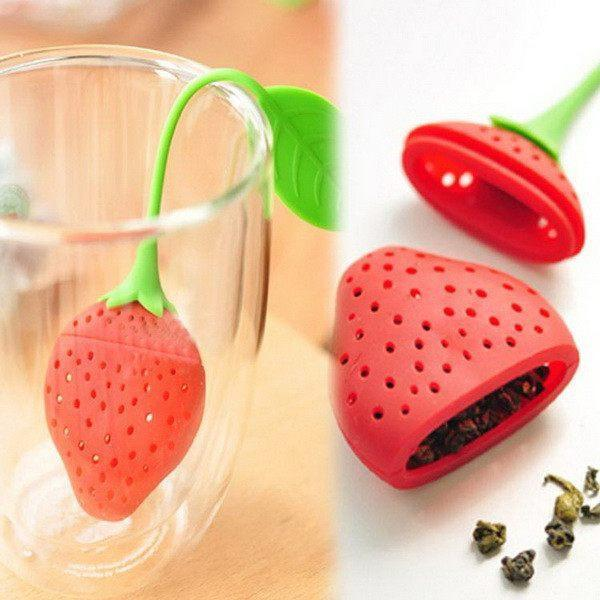 Tea, Infuser, Strawberry, Leaf,Strainer