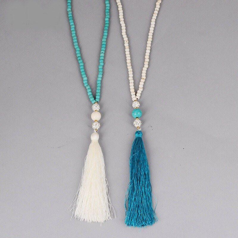 Turquoise Style Necklace Indian Chain Boho Beads