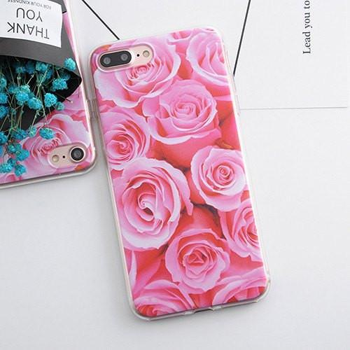 Roses Pink Phone Flowers Floral Cute Case 3D