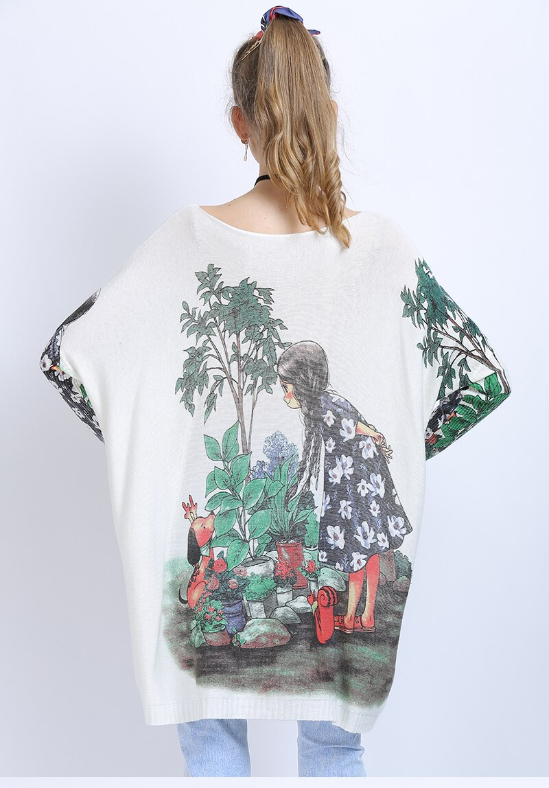 Cute Garden Girl Light Winter/ Fall Sweater
