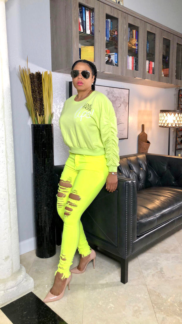Brandy Lime Green Sweater