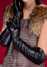 Faux Leather Gloves - Black