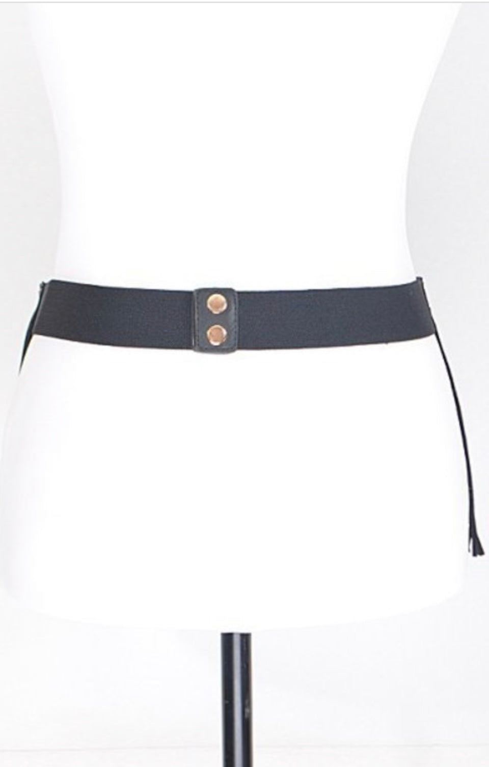 Fashion Fringe Waist Belt- Black
