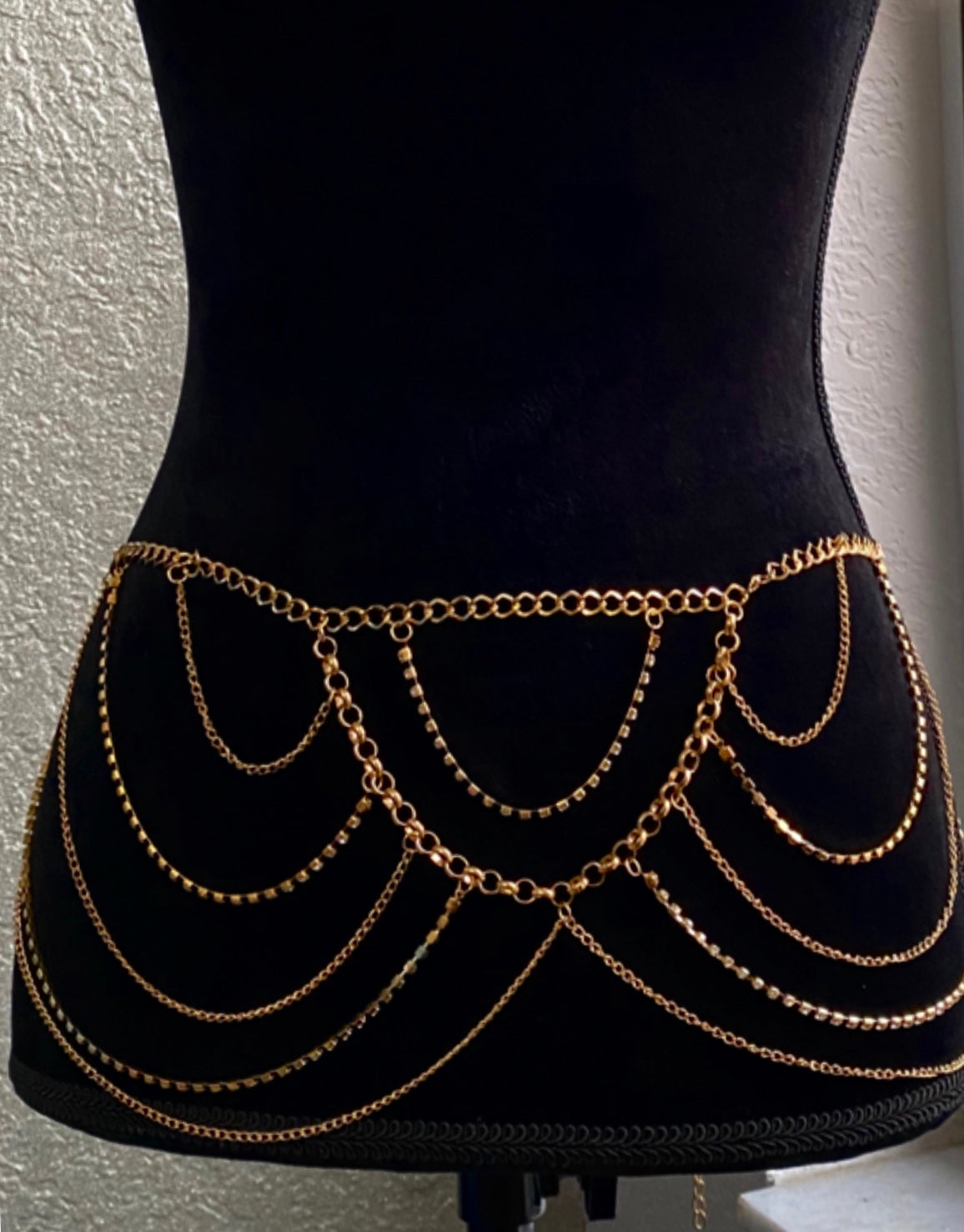 Waist Chain Link Hanging Belt- Gold