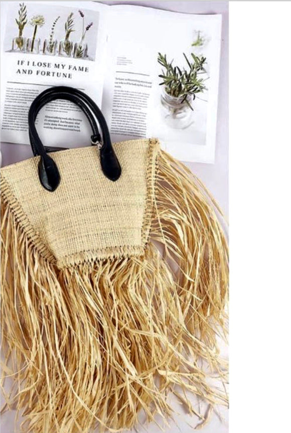 Well Deserve Vacation Grass Fringe Bag