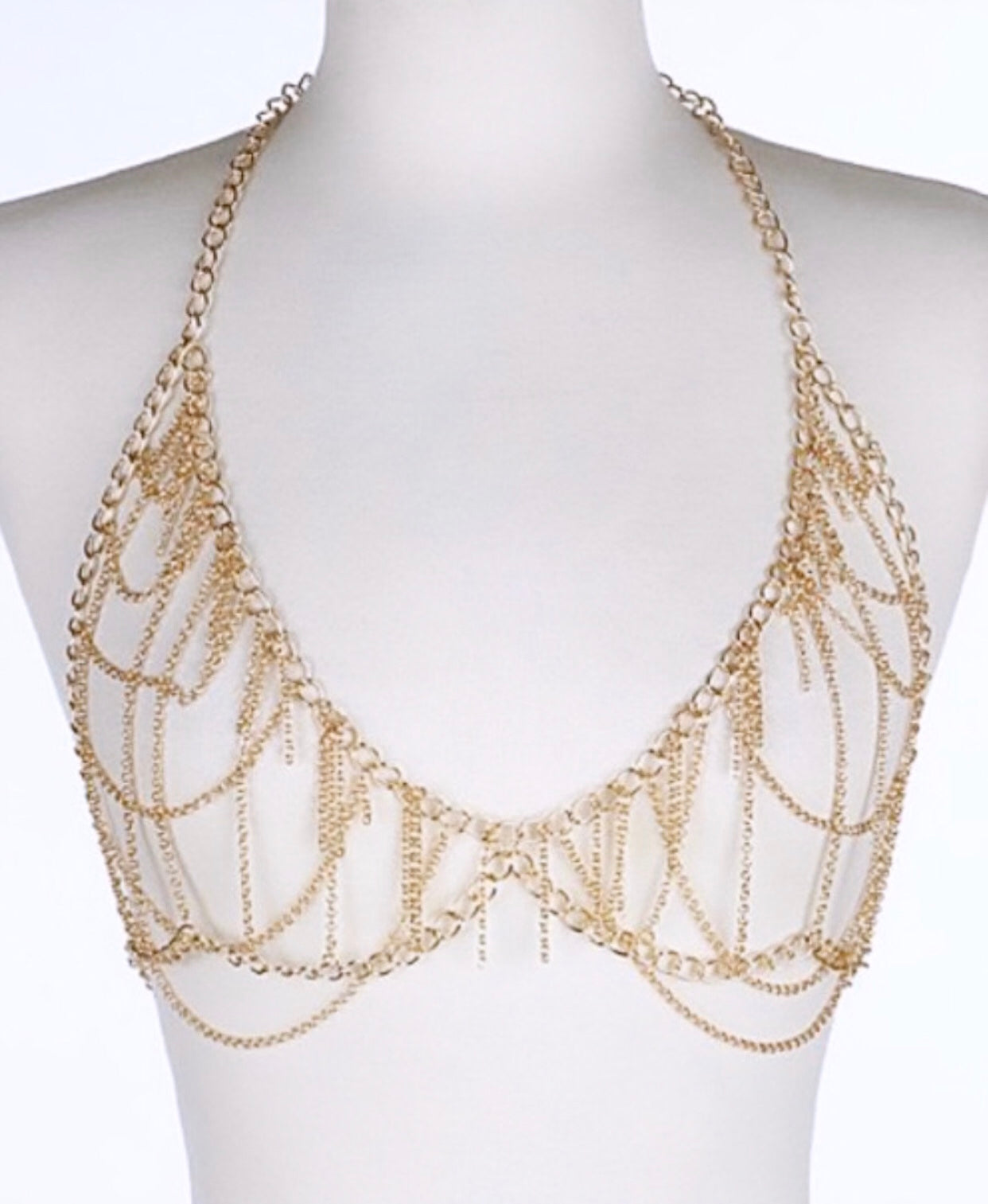 Layered Bra Body Chain- Gold