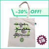 "Watercolor ""Hang In There"" Organic Canvas Tote Bag"
