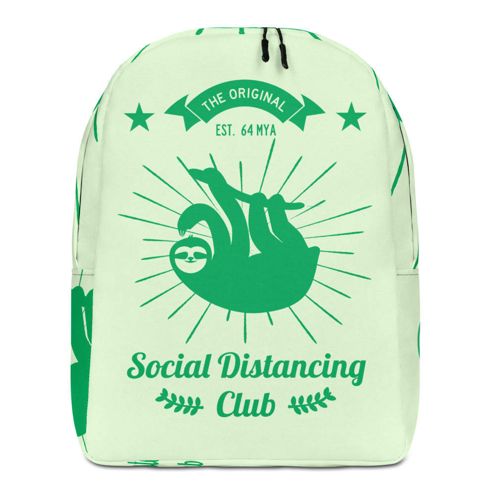 Minimalist Backpack Social Distancing Club Green