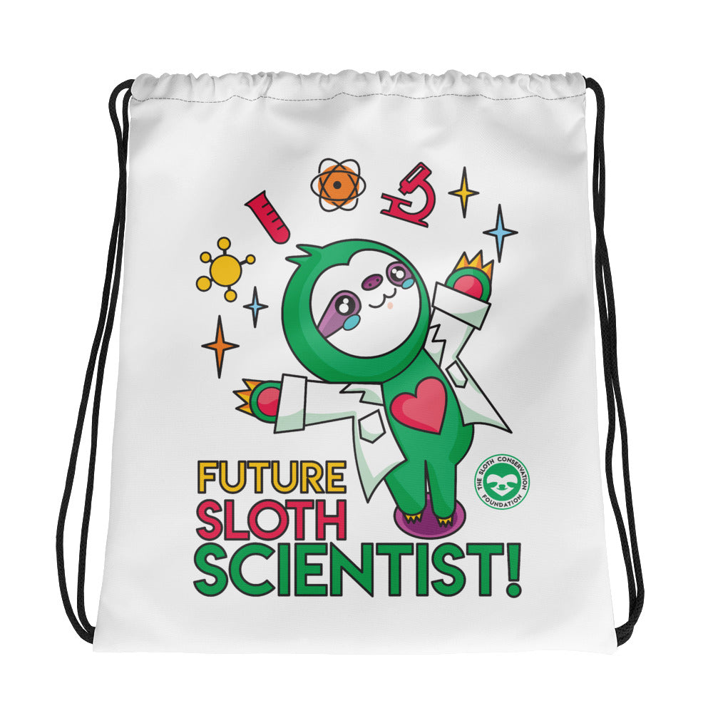 Future Sloth Scientist Drawstring bag