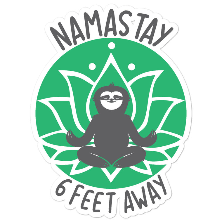 Namastay Green Bubble-free stickers