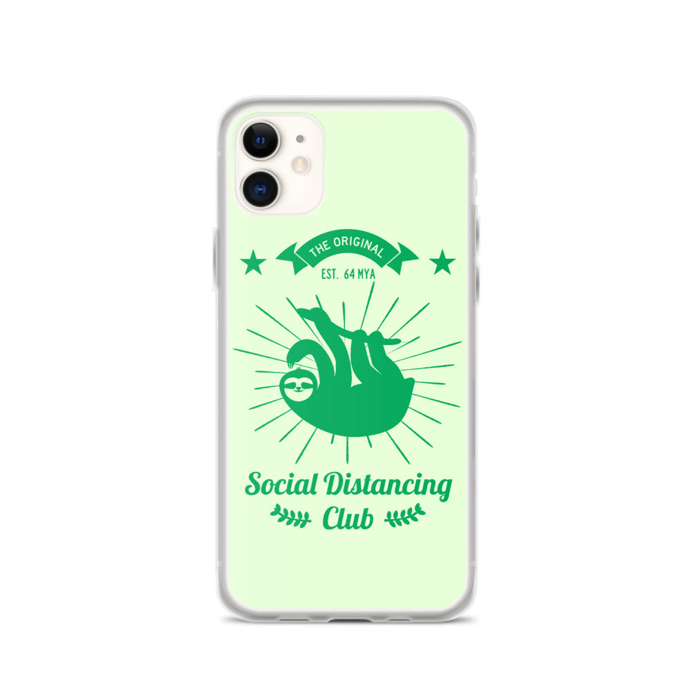 Social Distancing Club (Green print) iPhone Case