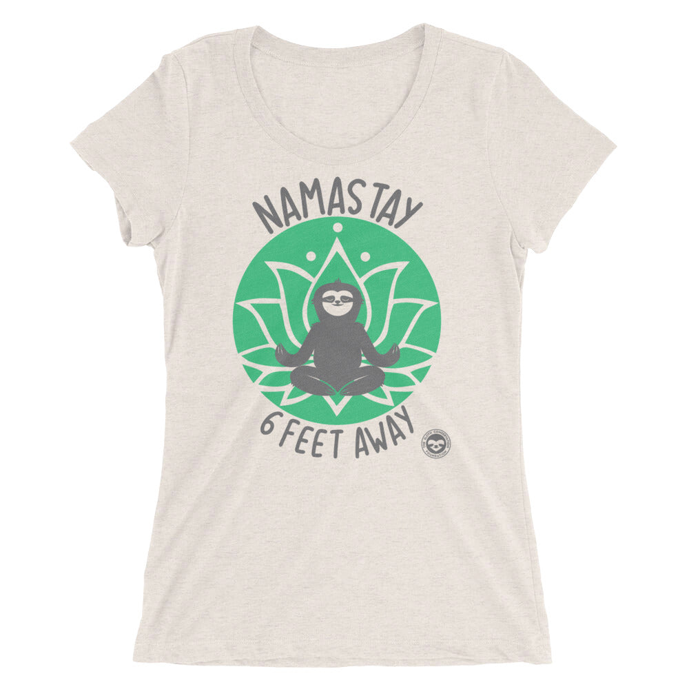 "Ladies' ""Namastay""  short sleeve t-shirt"