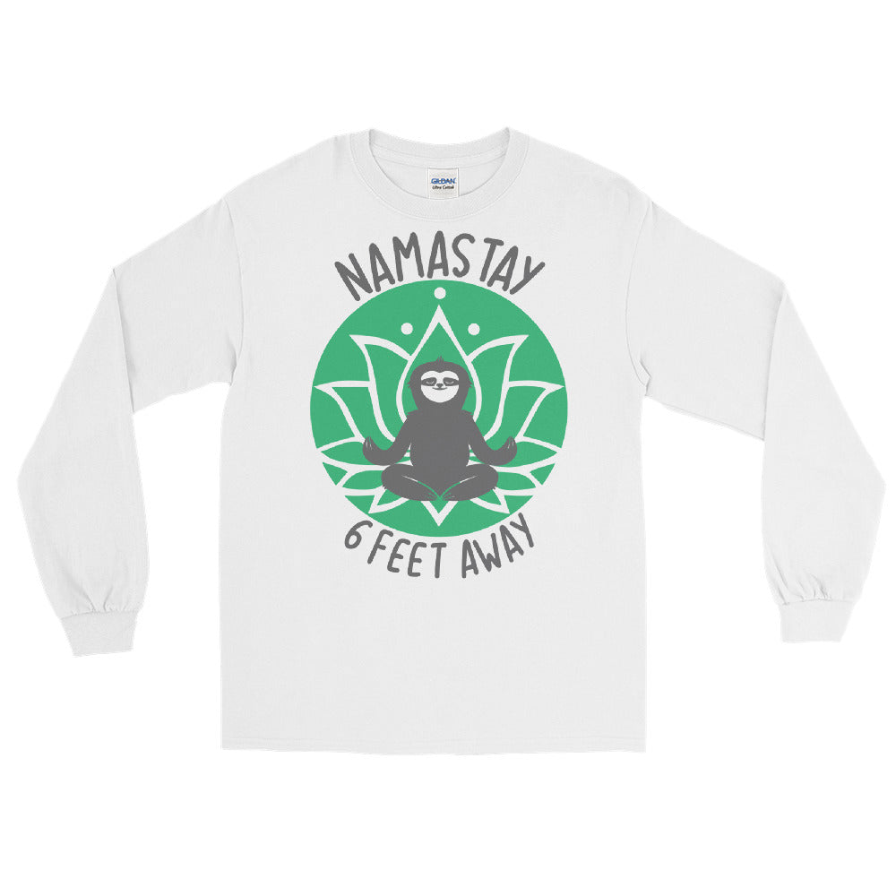 Namastay green print women's Long Sleeve Shirt