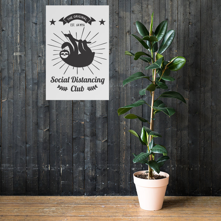 Poster Social Distancing Club Black Print