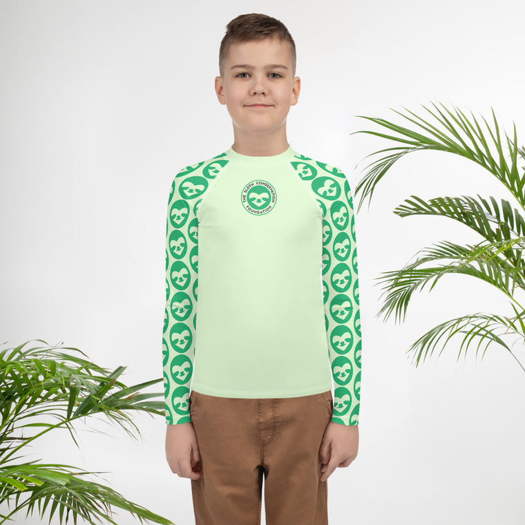 Youth Rash Guard SloCo green
