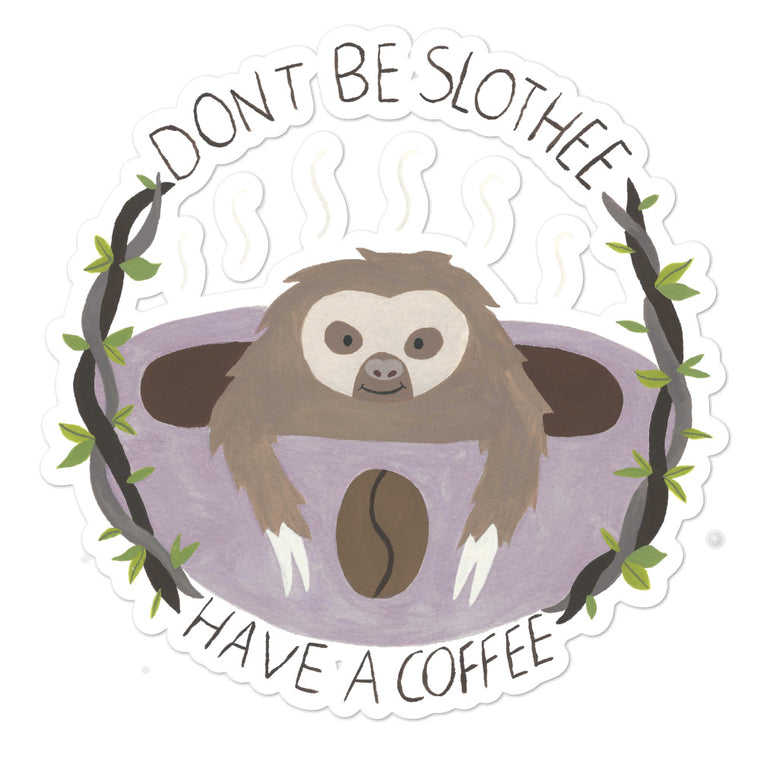 Watercolor Coffee Bubble-free stickers