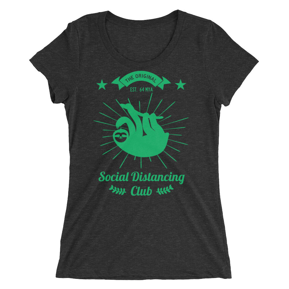 Social Distancing Club Green Print Women t-shirt