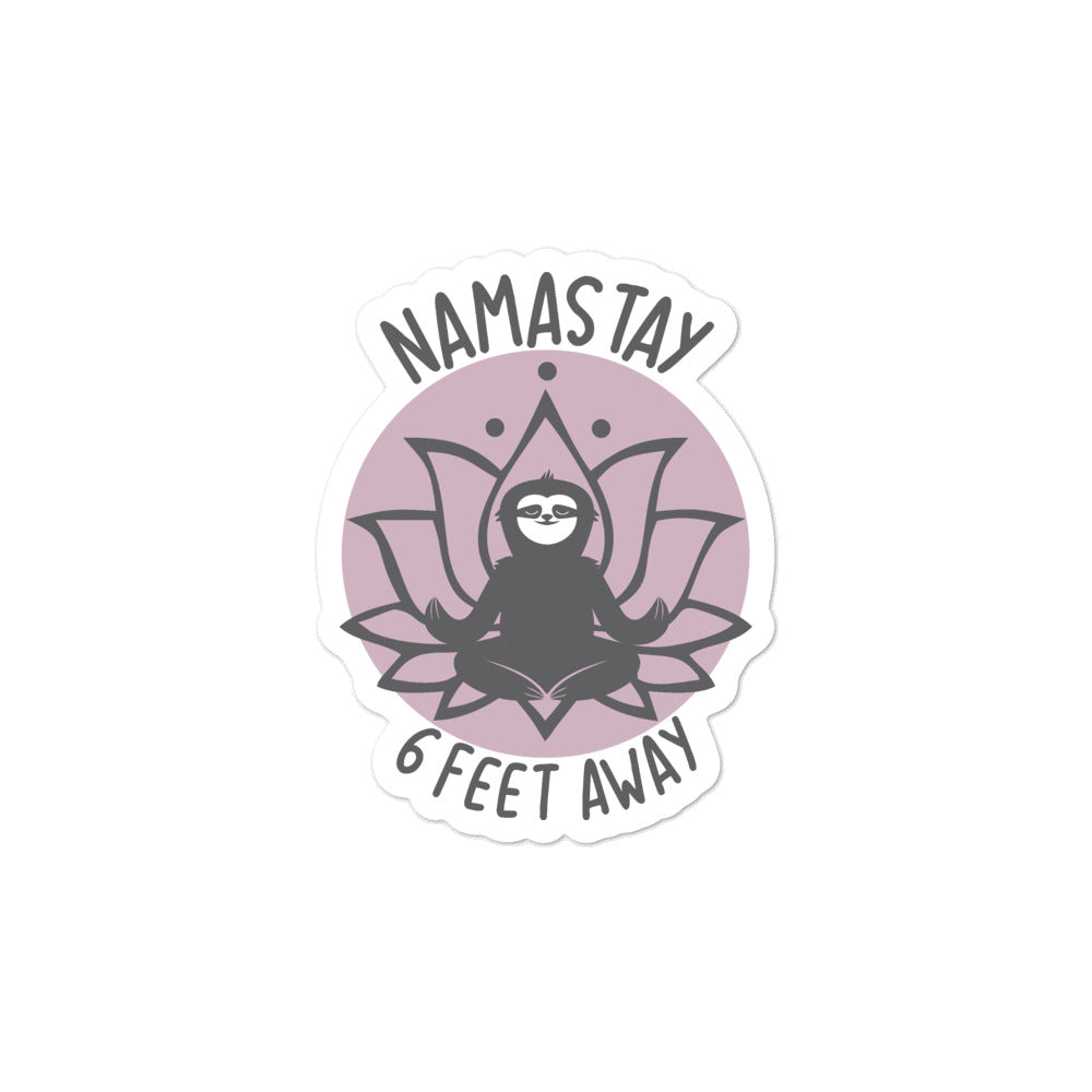 Namastay purple Bubble-free stickers