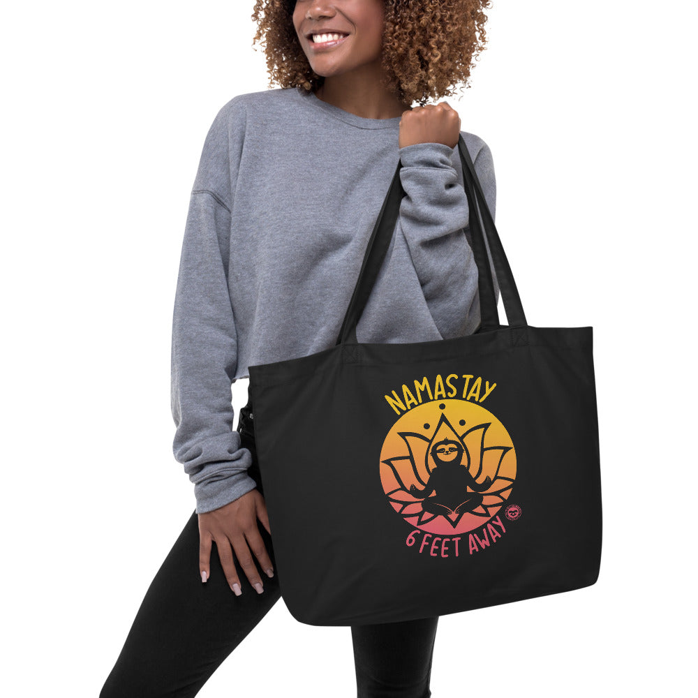 Namastay Sunset organic tote bag
