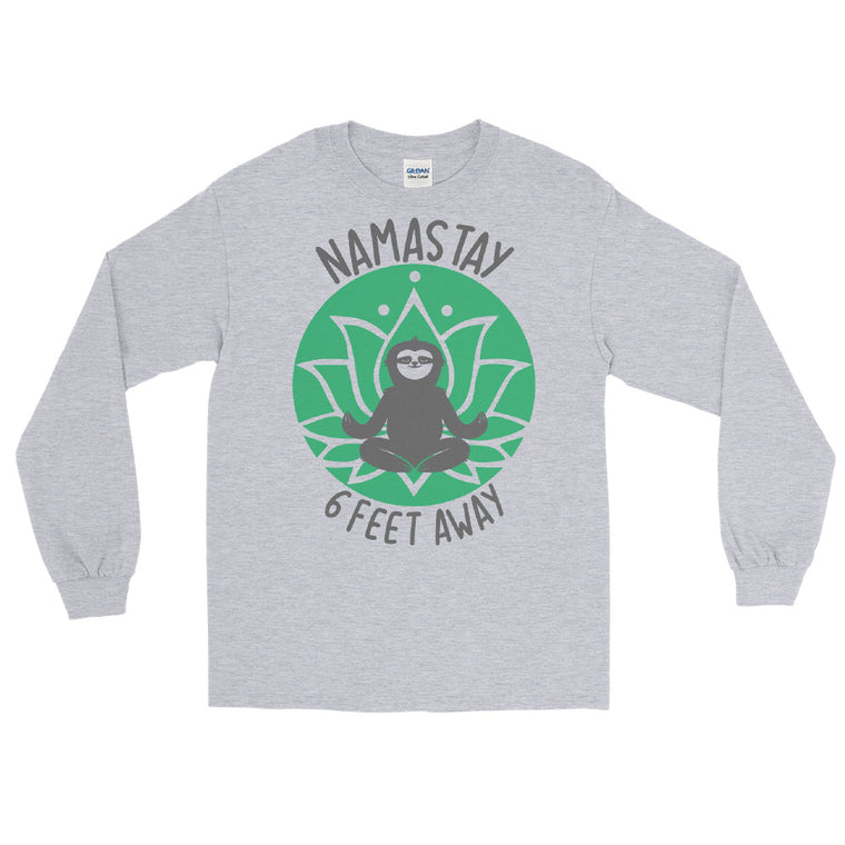 Namastay (green print) )Men's Long Sleeve Shirt