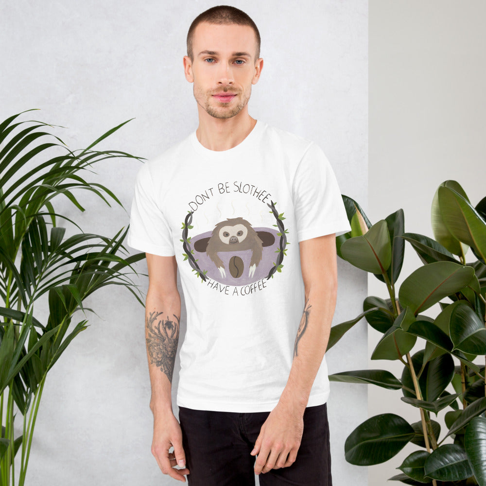 Watercolor Coffe Men T-Shirt