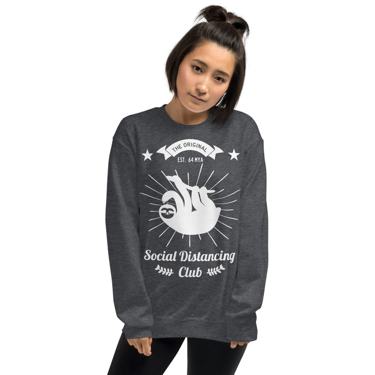 Social Distancing club (white print) Sweatshirt