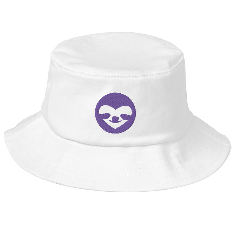 Old School Bucket Hat Sloco logo purple