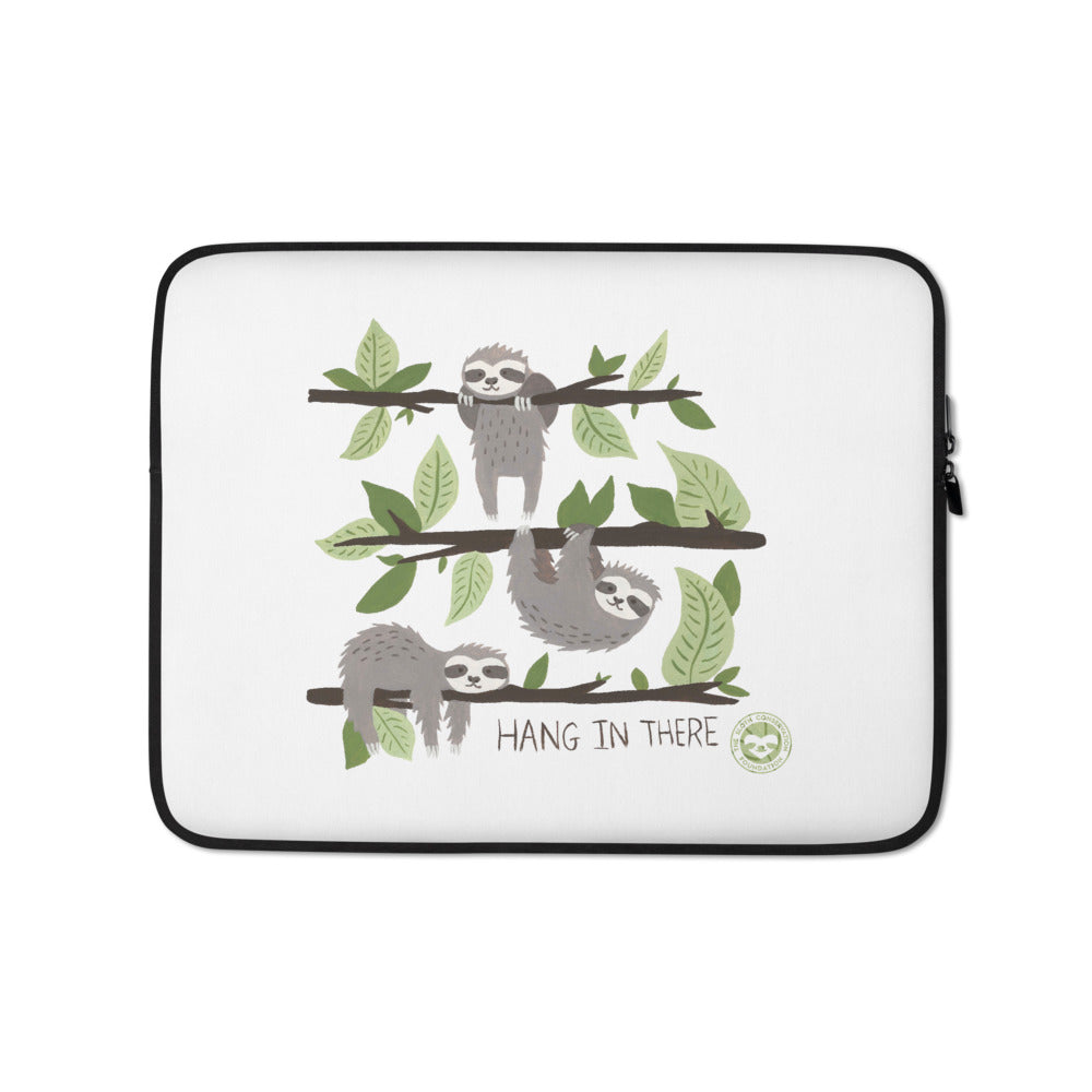 Watercolor Hang in There Laptop Sleeve