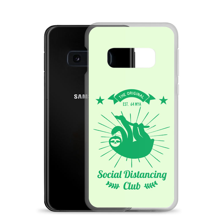 Samsung Case Social Distancing Club (greenprint)