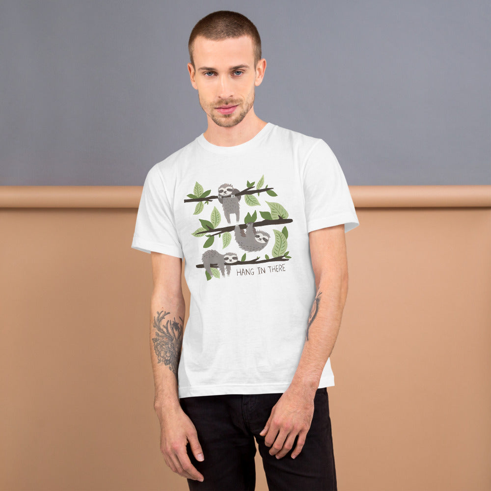 Watercolor Hang in There Men T-Shirt