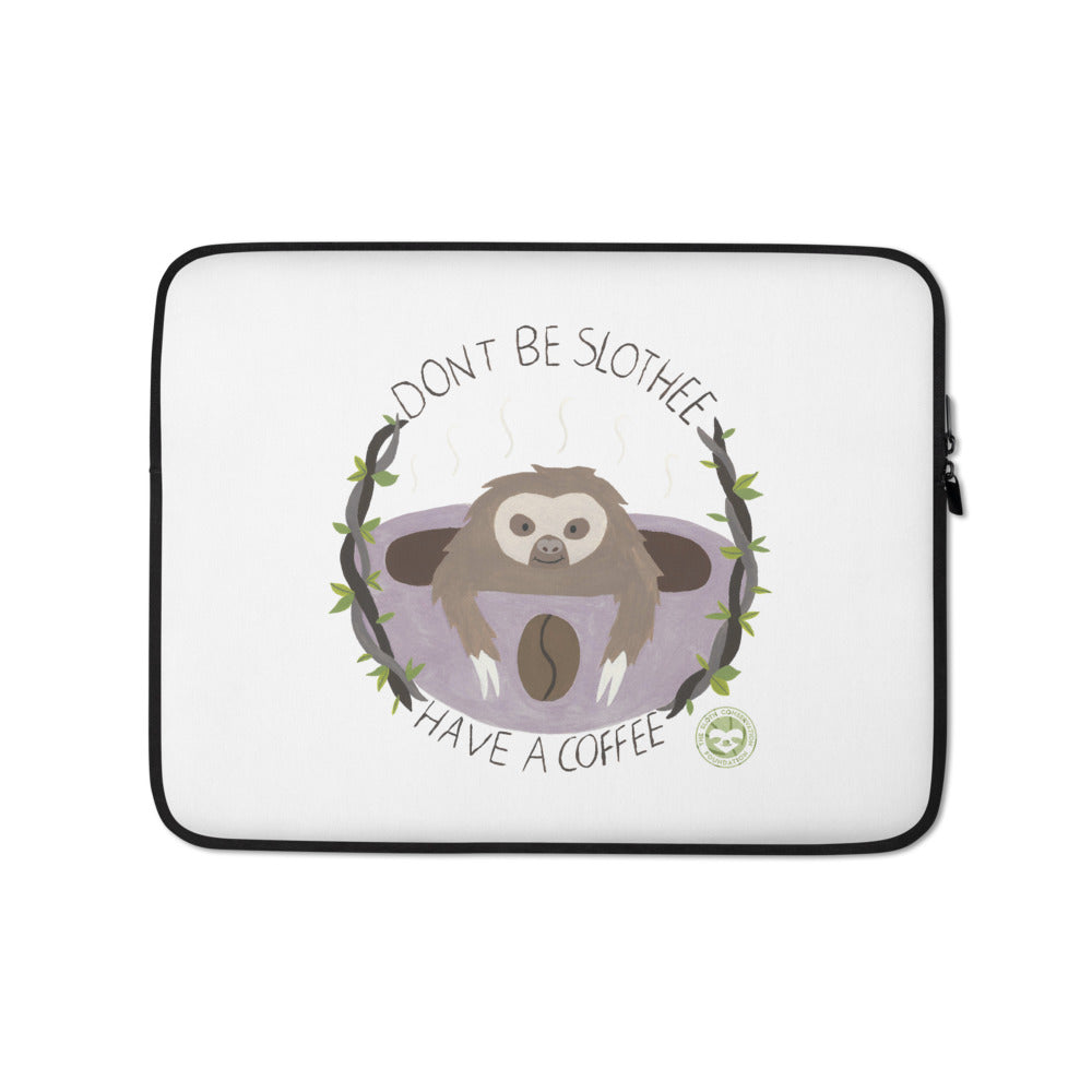 Watercolor Coffee Laptop Sleeve