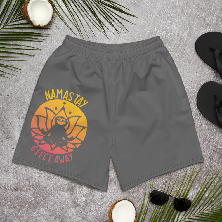 Men's Athletic Long Shorts Namastay Sunset