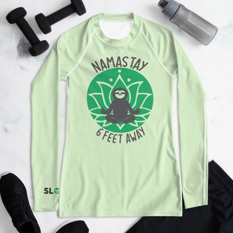Women's Rash Guard Namastay Green