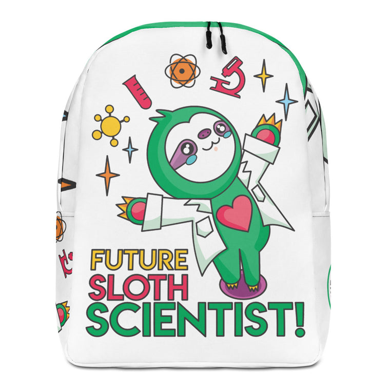 Minimalist Backpack Future Sloth Scientist