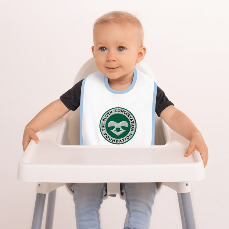 Embroidered SloCo logo Baby Bib